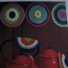 Vintage Crochet Pattern Pot Luck Potholders Kitchen Decor 1 Cent USA S&H