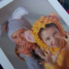 USA 1 Cent S&H Vintage Crochet Pattern Bunny Rabbit and Lion Halloween Costume Hats
