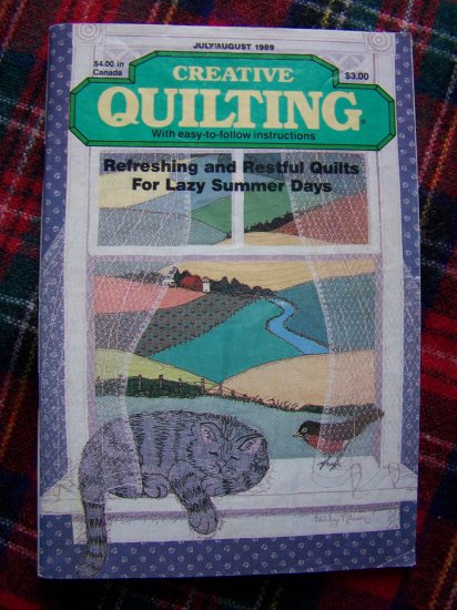 Vintage Creative Quilting Back Issue Pattern Magazine July august 1989