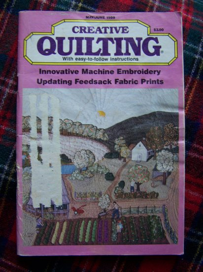 Vintage Quilting Magazine Quilt Patterns May June 1989 Back Issue