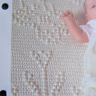 1 Cent USA S&H Baby's Flowers Vintage Crochet Pattern Tufted Infant Afghan Blanket