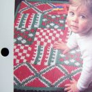 1 Cent S&H Vintage Baby Quilt Geometry Lesson Afghan Blanket Play Mat Crochet Pattern