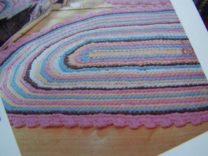 Lace 'n' Ribbon Roses: Crocheted Oval Rug