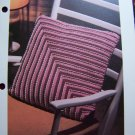 1 Cent USA S&H Vintage Crochet Pattern Diagonal Striped Pillow Stripes