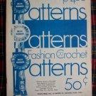 70's Vintage Hippie Blue Ribbon Crochet 20 Patterns Book Mini Dress Purse Belts Coat