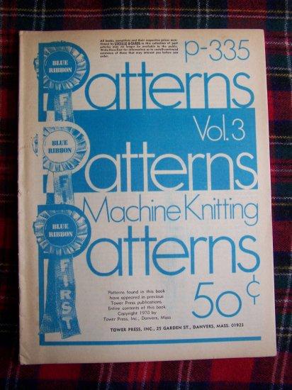 3 Book Lot Vintage Blue Ribbon Patterns Books Machine Knitting Vol 1 2 3