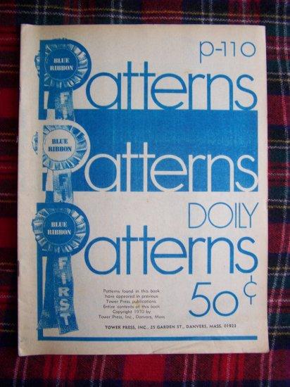 1 C USA S&H Vintage Crochet Doily Pattern Book Blue Ribbon Doilies P 110