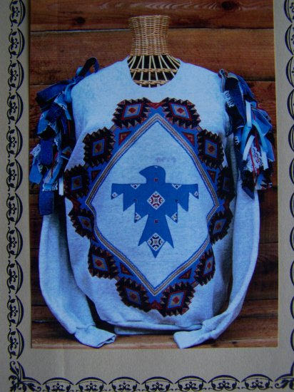 1 Cent USA S&H Bee Hive Bandana Pattern Thunderbird Applique 1173