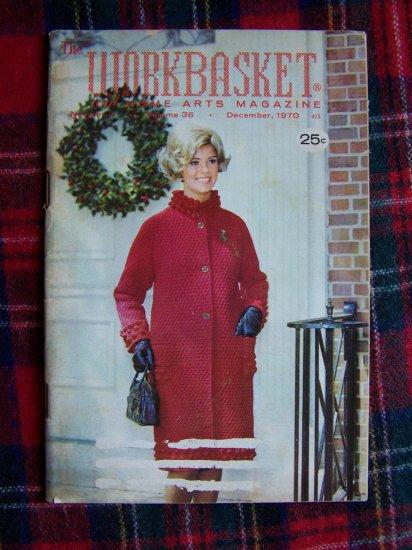 1 Cent USA S&H Vintage Crochet Workbasket Art Pattern Magazine Dec 1970