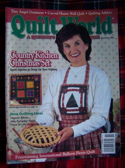 Nov 1996 Quilt World Pattern Magazine Quilting Patterns