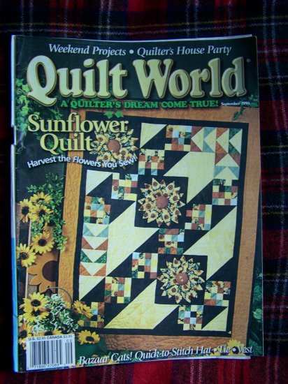 Quilt World Quilting Patterns Magazine Sept 1996 Pattern Book