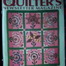 Vintage Quilters Newsletter Pattern Magazine Nov Dec 1988 Quilting Patterns