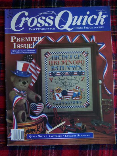 Vintage Cross Stitch Patterns Magazine Cross Quick Aug Sep 1988
