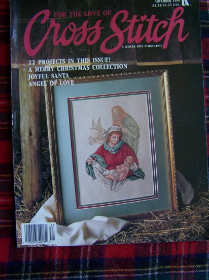 Vintage For The Love Of Cross Stitch Magazine Nov 1989 Christmas Pattern Collection