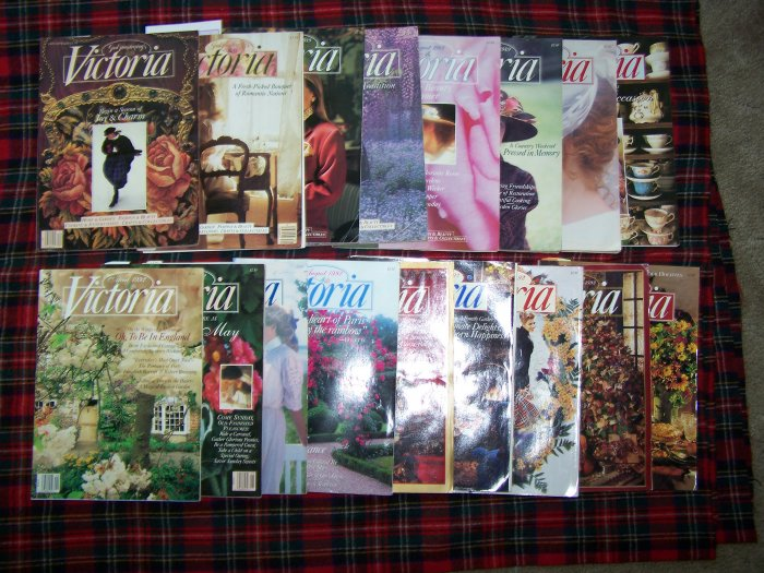 Victoria Magazines 1989 1990 1995 1999 2000 2001 Back Issues