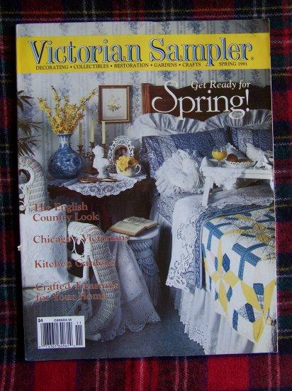 Victorian Sampler Back Issue Magazine Spring 1991