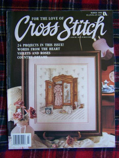 Craft Magazine For the Love of Cross Stitch Patterns March 1990