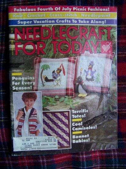 Vintage Needlework For Today 1986 Knitting Crochet Cross Stitch Needlepoint