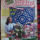 Quick & Easy Quilting Pattern Magazine Spring 1990 Quilting Instructions
