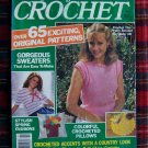 65 Vintage Crocheting Patterns Big Book of Crochet Pattern Magazine 1980's