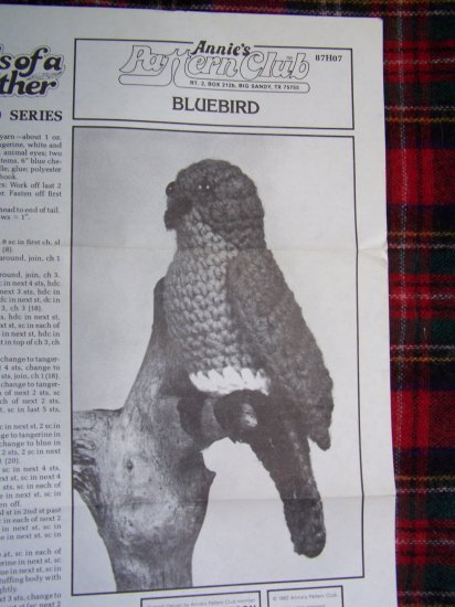 USA 1 Cent S&H Vintage Annie's Crochet Pattern Birds of A Feather Songbird Bluebird