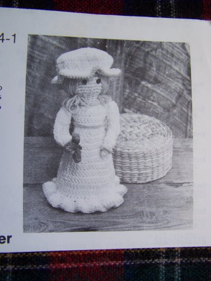 Vintage Crochet Pattern Kitchen Cuties Missy Maid Doll Dish Soap Cover Accessory Annie's
