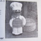 Vintage Kitchen Crochet Pattern Big Chef Cleanser Can Cover Annie's Attic