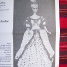 USA 1 Cent S&H Vintage Crochet Barbie Pattern Shady Lane Timeless Fashion Doll Wardrobe