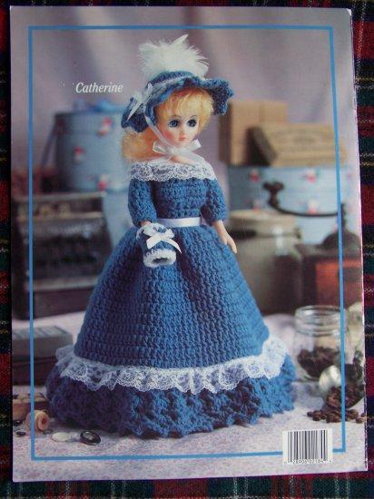 "Leisure Arts American Heritage 15"" Dolls Crochet Dresses Patterns"