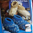 Lily Vintage Crochet Patterns SLippers House Shoes 1 Cent USA Shipping Special