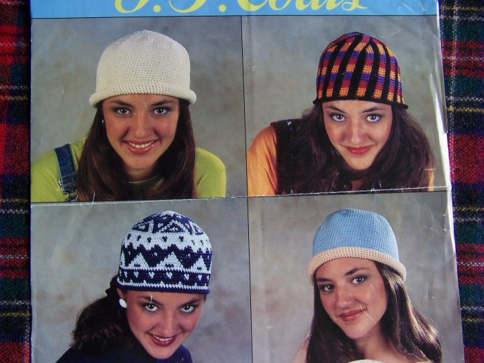 J & P Coats 4 Headliner Hats Crochet Patterns 1 Cent USA Shipping