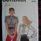 Vintage Blouse Sewing Pattern Front Band Ruffle Slant SHoulder Seams 3021