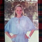 USA 1 Cent S&H VIntage Sewing Pattern Dolman Top Round Slit Neck Elastic Waist 6223