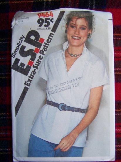 USA 1 Cent S&H Vintage Misses 12 14 16 Shirt Saddle Shoulders Side Slits 9464