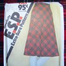 USA $1 S&H NEW Vintage Bias Skirt Sewing Pattern Lap Zipper Waistband 9583