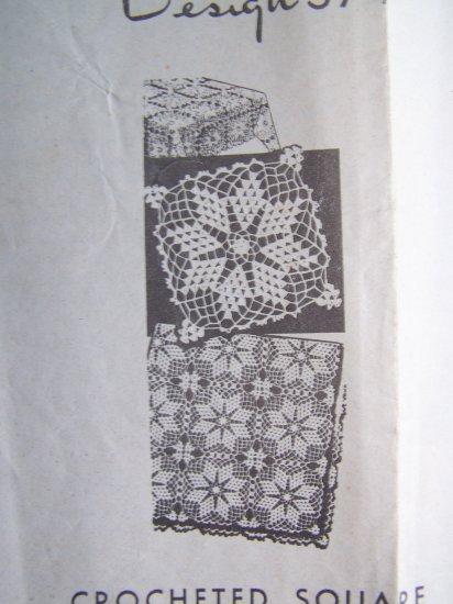Vintage 1946 Laura Wheeler Crochet Pattern Design 574 Tablecloth Bedspread +