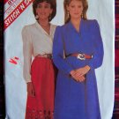 Vintage Sewing Pattern Button up Long Sleeve Blouse Dirndl SKirt 8141 McCall's