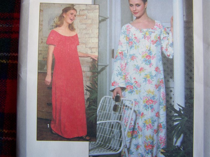 70's Vintage Easy Caftan Dress Sewing Pattern Raglan Short Long Sleeves  8463