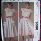 USA 1 C S&H Vintage Dress Boat Neck 4 Gore Circle Skirt Sewing Pattern 9096