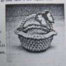 USA 1 C S&H Vintage Crochet Pattern Baskets & Butterflies Kitchen Table Centerpiece
