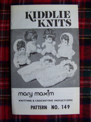 Knitting pattern for doll clothes, Butterfly Kisses.
