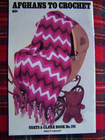 USA 1 Cent S&H Coats & Clarks Book 291 Afghan Patterns To Crochet