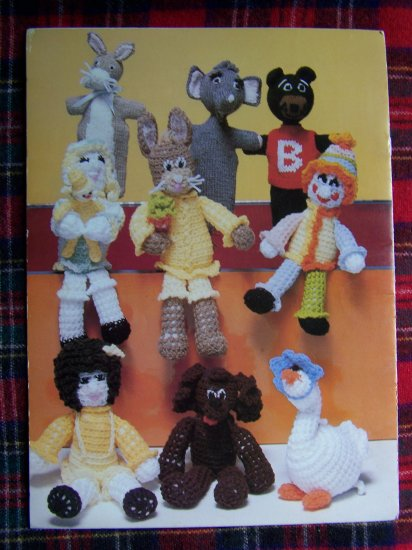 1 Cent USA S&H Vintage Crochet Stuffed Toy Patterns Knitting Pattern Puppets
