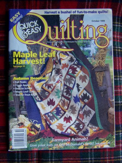 Quick & Easy Quilting Pattern Magazine October 1999 Quilts Patterns
