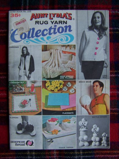 Vintage Crochet & Knitting Pattern Book Sweaters Boots Aran Afghan Pillows Poodles