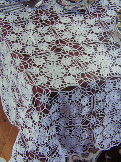 1 Cent US S&H Crochet Pattern Elegance Heirloom Tablecloth LC 1225