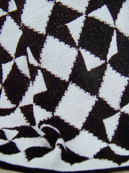 USA 1 Cent S&H Lion Brand Diamond Crochet Afghan Pattern Crocheting