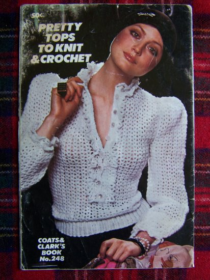 USA 1 Cent S&H Vintage 70's Knitting and Crochet Blouse Tops Coats & Clark's
