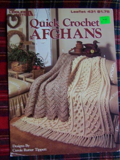 Vintage Crochet Afghan Patterns Bulky Fisherman Cross Stitch Ripple