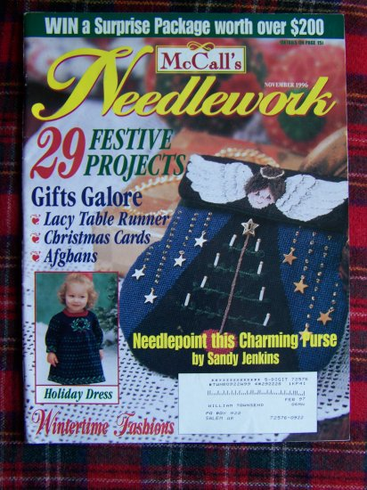 McCall's Needlework Magazine Nov 1996 Christmas Winter Patterns